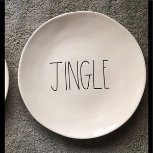 Rae Dunn Jingle dinner plate🛎 11 inch 1 Black LL